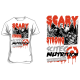 T-Shirt Scary Strong (blanc) Scitec Nutrition