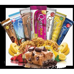 Barres de protéines Quest sans Gluten (12 barres de 60g)