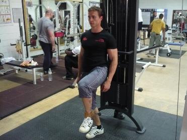 flexion de la hanche une jambe la machine musculation des quadriceps. Black Bedroom Furniture Sets. Home Design Ideas